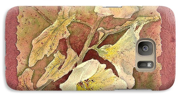 Galaxy Case featuring the painting Triple White by Carolyn Rosenberger