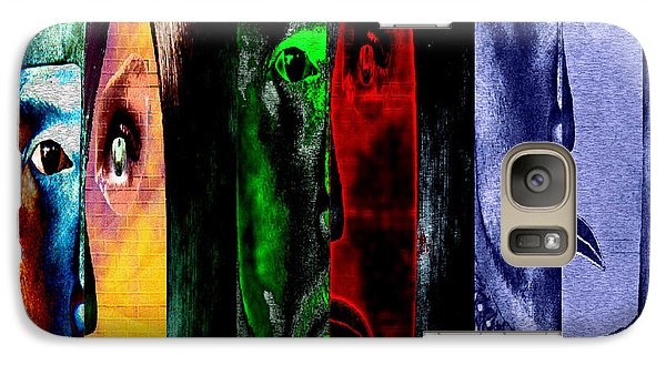 Galaxy Case featuring the digital art Triptychon Paerchen II - Triptych Couple II by Mojo Mendiola