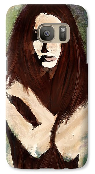 Galaxy Case featuring the digital art Tristesse by Galen Valle