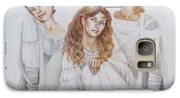 Galaxy Case featuring the painting Trois by Marina Gnetetsky