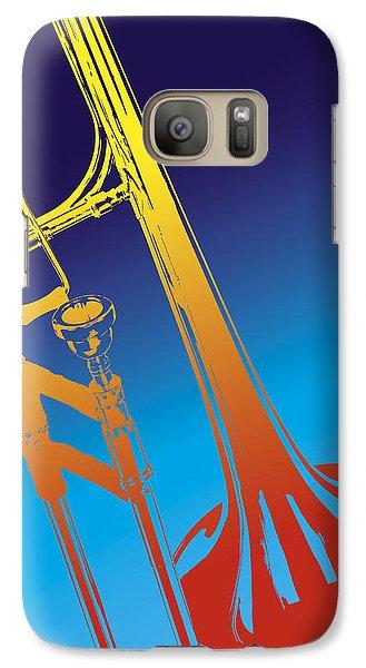 Trombone Galaxy S7 Case - Trombone by Daniel Troy