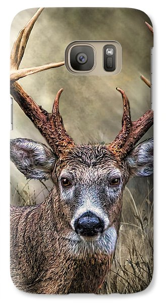 Galaxy Case featuring the digital art Trophy 10 Point Buck by Mary Almond