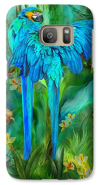 Tropic Spirits - Gold And Blue Macaws Galaxy S7 Case