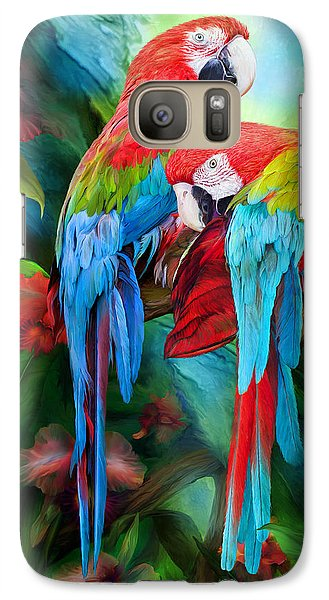 Tropic Spirits - Macaws Galaxy S7 Case
