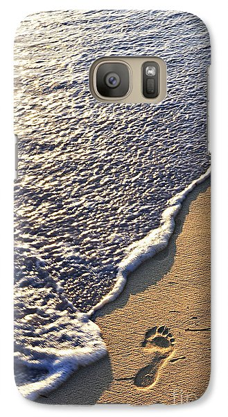 Tropical Beach With Footprints Galaxy S7 Case