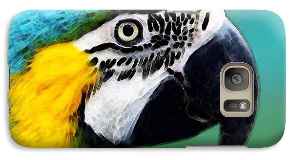 Tropical Bird - Colorful Macaw Galaxy Case by Sharon Cummings