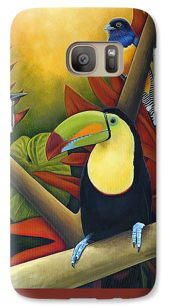 Toucan Galaxy S7 Case - Tropical Birds by Nathan Miller