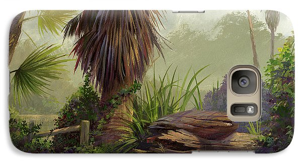 Galaxy Case featuring the painting Tropical Blend by Michael Humphries