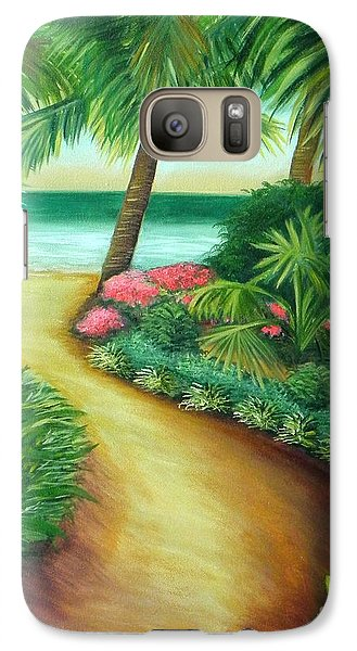 Galaxy Case featuring the painting Tropical Breezes by Shelia Kempf