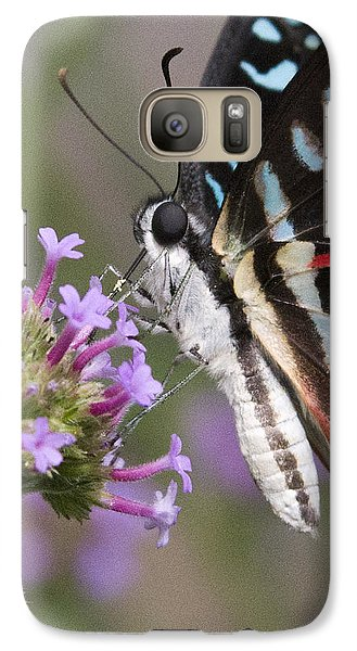 Galaxy Case featuring the photograph Tropical Butterfly by Chris Scroggins