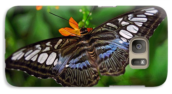 Galaxy Case featuring the photograph Tropical Butterfly by Marie Hicks