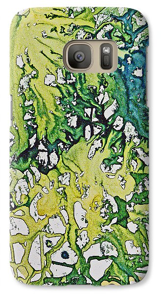 Galaxy Case featuring the painting Tropical Confusion by Joan Hartenstein
