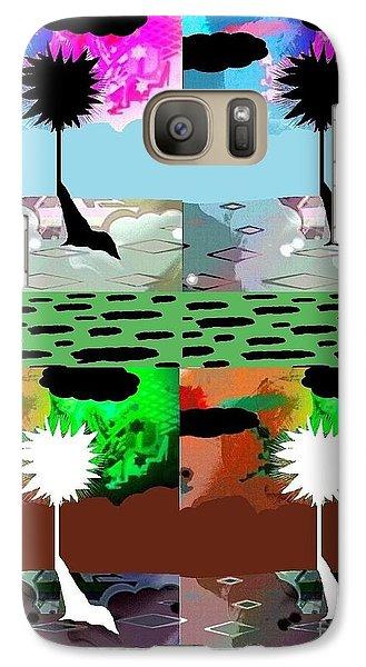 Galaxy Case featuring the digital art Tropical Daze 2 by Ann Calvo