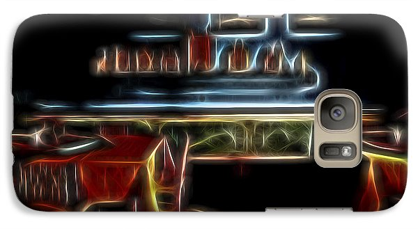 Galaxy Case featuring the digital art Tropical Dining Room 1 by William Horden