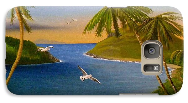 Galaxy Case featuring the painting Tropical Escape by Sheri Keith