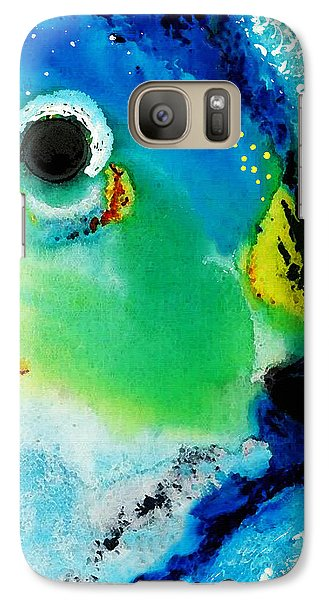Tropical Fish 2 - Abstract Art By Sharon Cummings Galaxy Case by Sharon Cummings