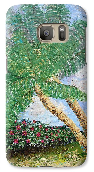 Galaxy Case featuring the painting Tropical Flair by Margaret Bobb