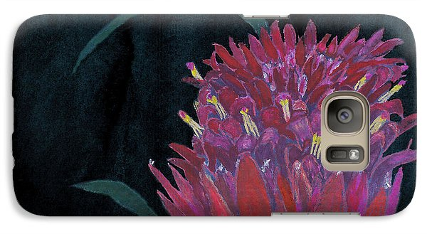 Galaxy Case featuring the mixed media Tropical Flower by C Sitton