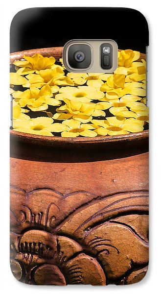 Galaxy Case featuring the photograph Tropical Flower Pot by Rob Tullis