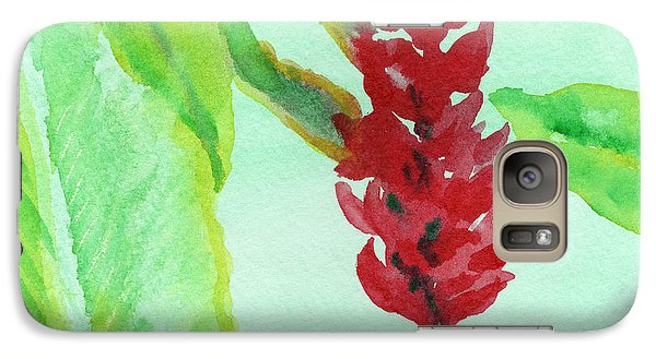Galaxy Case featuring the painting Tropical Flowers 2 by C Sitton