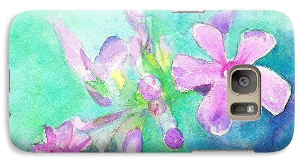 Galaxy Case featuring the painting Tropical Flowers by C Sitton