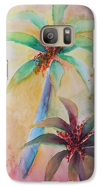 Galaxy Case featuring the painting Tropical Image by Karin Eisermann