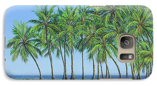 Galaxy Case featuring the painting Tropical Lagoon by Jane Girardot