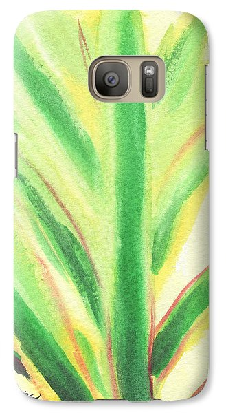 Galaxy Case featuring the painting Tropical Leaf by C Sitton