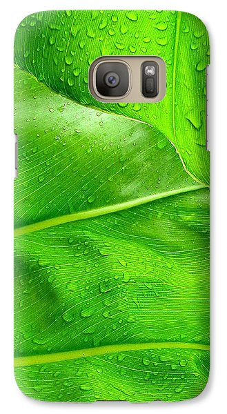 Galaxy Case featuring the photograph Tropical Leaves by Ranjini Kandasamy