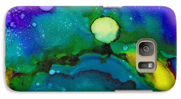 Galaxy Case featuring the painting Tropical Moon by Angela Treat Lyon