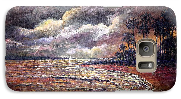 Galaxy Case featuring the painting Tropical Moon by Lou Ann Bagnall