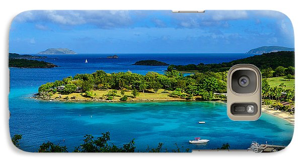 Galaxy Case featuring the photograph Tropical Paradise In The Virgin Islands by Greg Norrell