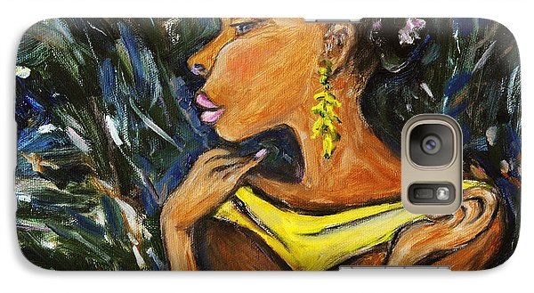 Galaxy Case featuring the painting Tropical Shower by Xueling Zou