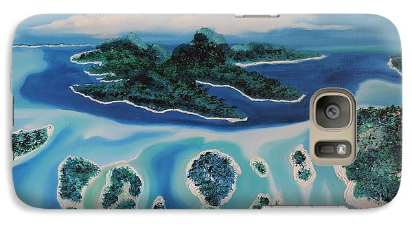 Galaxy Case featuring the painting Tropical Skies by Dianna Lewis