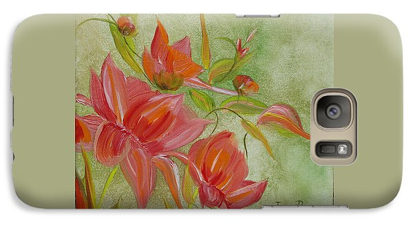 Galaxy Case featuring the painting Tropical Splash by Judith Rhue