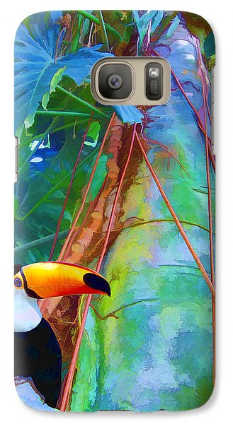 Galaxy Case featuring the digital art Tropical Toucan by Kathleen Holley