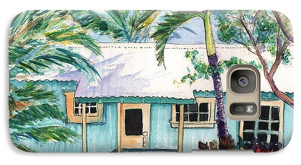 Galaxy Case featuring the painting Tropical Vacation Cottage by Marionette Taboniar