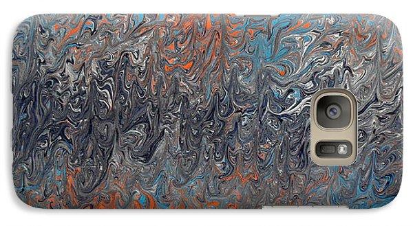 Galaxy Case featuring the painting Trouble 2 Nite by Cyryn Fyrcyd