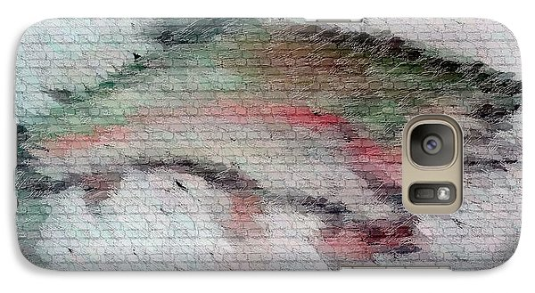 Galaxy Case featuring the drawing Trout 2 by Ayasha Loya