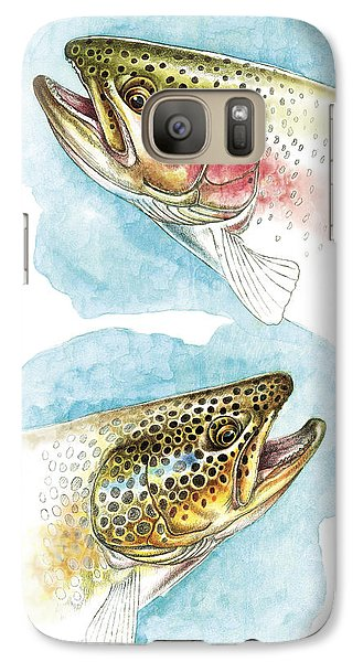 Trout Galaxy S7 Case - Trout Study by JQ Licensing