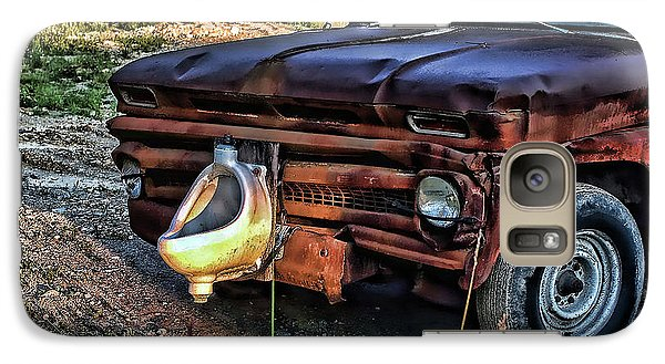Galaxy Case featuring the photograph Truck With Benefits by Ron Roberts