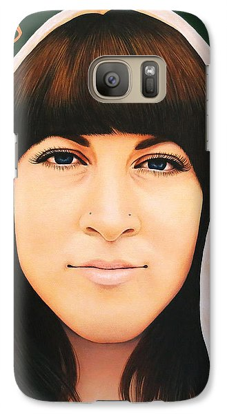 Galaxy Case featuring the painting True Beauty - Alisha Gauvreau by Malinda Prudhomme