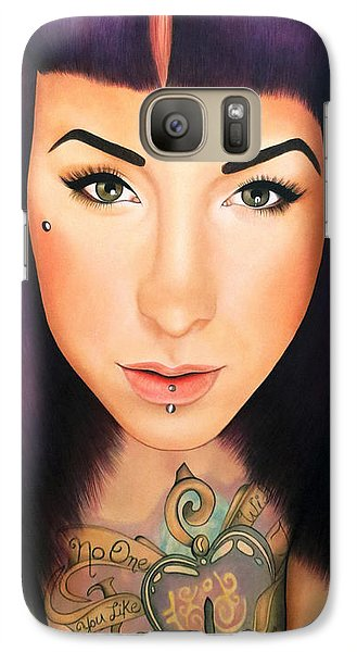 Galaxy Case featuring the painting True Beauty - Danielle St Laurent by Malinda Prudhomme