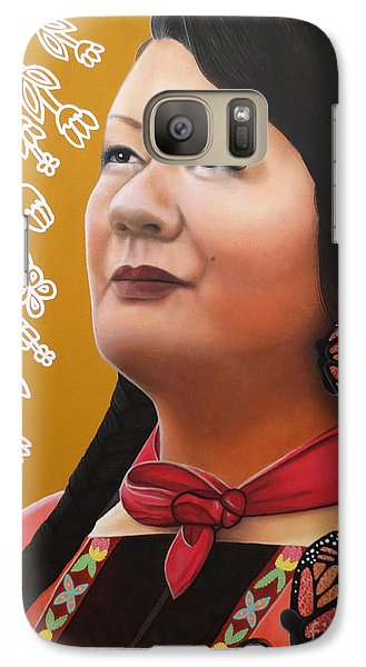 Galaxy Case featuring the painting True Beauty - Jenny Blackbird by Malinda Prudhomme