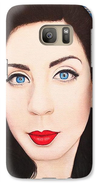 Galaxy Case featuring the painting True Beauty - Lisa Boros by Malinda Prudhomme