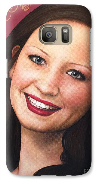 Galaxy Case featuring the painting True Beauty - Tasha Rissling by Malinda Prudhomme