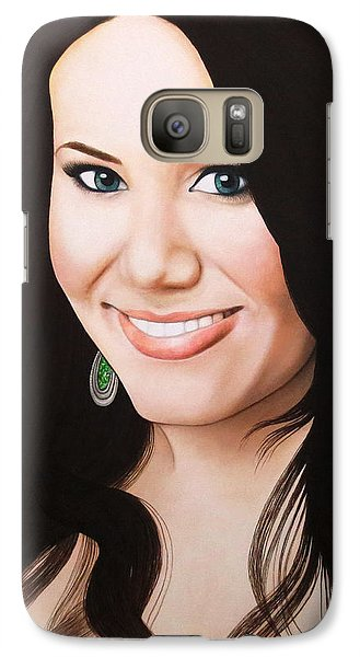 Galaxy Case featuring the painting True Beauty - Vivian Bro by Malinda Prudhomme