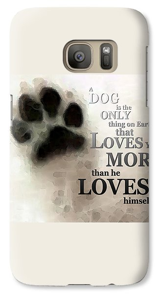 True Love - By Sharon Cummings Words By Billings Galaxy S7 Case by Sharon Cummings