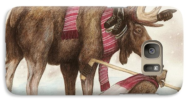 Galaxy Case featuring the drawing True North by Meagan  Visser