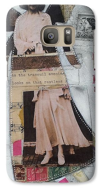Galaxy Case featuring the painting Truly by Casey Rasmussen White